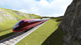 Modern high speed trains 2 Royalty Free Stock Images