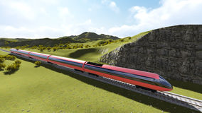 Modern high speed trains 1 Royalty Free Stock Images