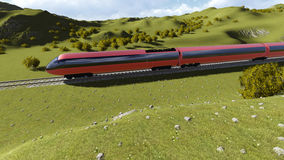 Modern high speed trains 4 Royalty Free Stock Image
