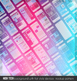 Modern high tech background design with a lot of transparent devices mockup Royalty Free Stock Photo