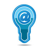 Modern high-tech bulb icon Royalty Free Stock Photo