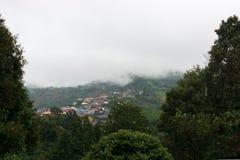 Modern highland village in chiang rai stock image