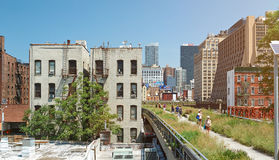 Modern highline park in New York city Stock Photography