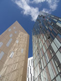 Modern highrise. Buildings in downtown Manchester Royalty Free Stock Images