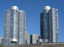 Modern highrise buildings Royalty Free Stock Photo