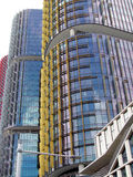 Modern highrise buildings Stock Photos