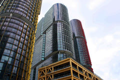 Modern highrise buildings Royalty Free Stock Image