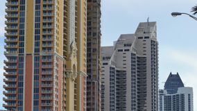 Modern highrise towers Sunny Isles Beach stock video