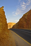 Modern highway in ancient desert Royalty Free Stock Photo