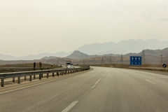 Modern Highway in Central Iran Royalty Free Stock Photography