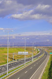 Modern Highway. A modern highway during the day Stock Image
