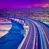 Modern Highway Royalty Free Stock Photo