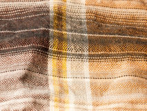 Modern hip check colored shirt fabric cotton wool up close textu Royalty Free Stock Photo