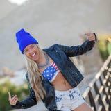 Modern hip woman Royalty Free Stock Photos