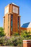 Modern and historic architecture at college campus Royalty Free Stock Photography