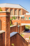 Modern and historic architecture at college campus Stock Image