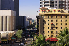 Modern and Historic Buildings of Downtown Phoenix  Royalty Free Stock Images