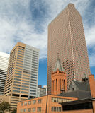 Modern and Historic Downtown Buildings in Denver Royalty Free Stock Image