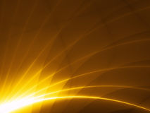 Modern hitech design - gold rays Stock Photo