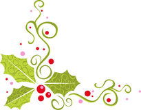 Modern holly banner Stock Photo