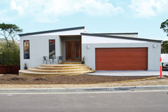 Modern home. An attractive, elegant modern home Royalty Free Stock Photo