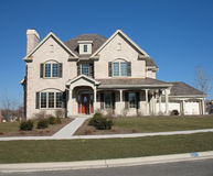 Modern home. New construction, modern american home Royalty Free Stock Images