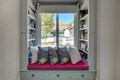 Modern Home Book Reading Nook Royalty Free Stock Photo