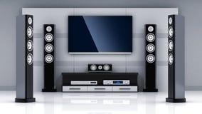 Modern home-cinema room Royalty Free Stock Photography