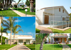 Modern home collage Stock Photos