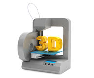 Modern Home 3d printer make object Royalty Free Stock Photo