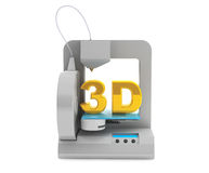 Modern Home 3d printer make object Royalty Free Stock Photography