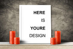Modern home decor mock-up, Black frame with place for text. Mock up Stock Photos