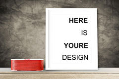 Modern home decor mock-up, Black frame with place for text. Mock up Royalty Free Stock Image