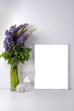 Modern home decor mock-up stock image