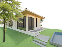 Modern home design Stock Image