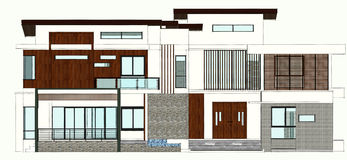 Modern home design Stock Photo