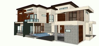 Modern home design Royalty Free Stock Photography