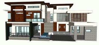 Modern home design Stock Image