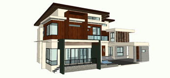 Modern home design Royalty Free Stock Images