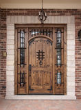 Modern home doorway and patio. A newly constructed, modern American home doorway and patio Royalty Free Stock Photography