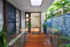 Modern home entrance Stock Images