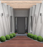 Modern home entry Stock Photography