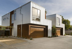 Modern home exterior architecture stock photo