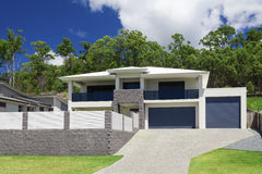 Modern home exterior royalty free stock image