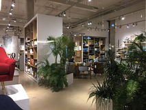 Modern home furnishing store inside. Nice modern home furnishing store West Elm, TX USA royalty free stock images