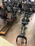 Modern home gym machines for sale Stock Image