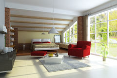 Modern home interior Royalty Free Stock Image