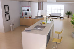 Modern home interior Royalty Free Stock Photos