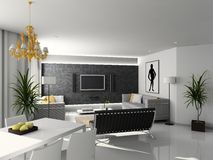 Modern home interior. stock illustration