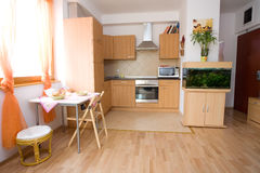 Modern home interior. With kitchen Stock Image